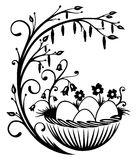 Easter, eggs, spring. Easter illustration with easter eggs Royalty Free Stock Image