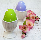 Easter eggs on a stand Royalty Free Stock Photography