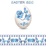 Easter eggs sticker with embroidery. Royalty Free Stock Image