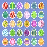 Easter eggs sticker set Royalty Free Stock Image