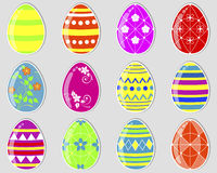 Easter eggs stickers. Stock Photography