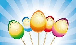 Easter eggs on sticks  Stock Image