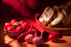 Easter eggs still-life Stock Images