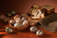 Easter eggs still-life Royalty Free Stock Images