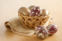 Easter eggs still-life Stock Images