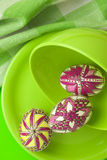 Easter eggs still-life Stock Image