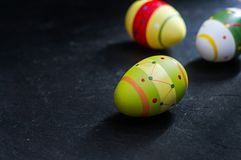 Easter eggs on stone background Stock Image