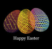 Easter eggs in stripes Royalty Free Stock Photo