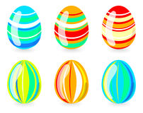 Easter eggs with strips Stock Photos