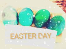 Easter eggs from Sunday school students royalty free stock photos