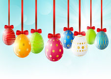 Easter eggs on sunny background Stock Photography