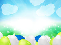 Easter Eggs Sunny Background Stock Photos