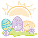 Easter Eggs at Sunrise Royalty Free Stock Photography