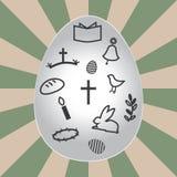 Easter eggs. On sunshine background Stock Illustration