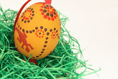 Easter eggs on synthetic turf Stock Images
