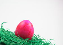 Easter eggs on synthetic turf Royalty Free Stock Image
