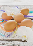 Easter eggs on the table Stock Photography