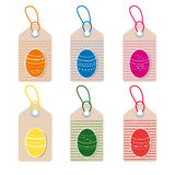 easter eggs tags Stock Image