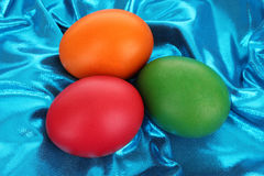Easter Eggs on Textile Royalty Free Stock Photo