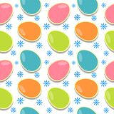 Easter Eggs Texture. Colored Easter eggs seamless texture Stock Images