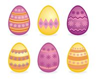 Easter eggs traditional colorful vector icons. Vector illustration of isolated easter eggs traditional colorful icons Stock Photo