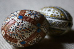 Easter eggs. Traditional easter eggs, decorated by talented hands Royalty Free Stock Images