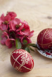 Easter eggs. Traditional hand paintetd easter eggs Royalty Free Stock Photo