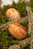 Easter eggs traditional pattern Stock Images