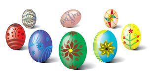 Easter eggs. Traditional Ukrainian Easter eggs on a white background royalty free illustration