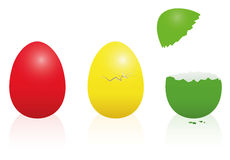 Easter Eggs Traffic Light Red Yellow Green Stock Images
