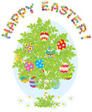 Easter eggs on a tree Royalty Free Stock Photo
