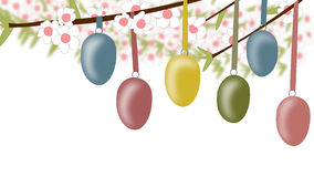 Easter eggs in a tree Stock Photography