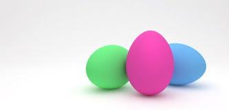 Easter eggs, trendy design concept, 3d illustration Stock Images