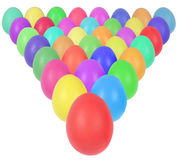Easter eggs in triangle Royalty Free Stock Image