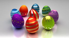Easter Eggs Turning Around stock video