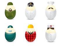 Easter eggs with uniform Stock Images