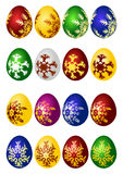 Easter eggs vector icon set. (16 Stock Images