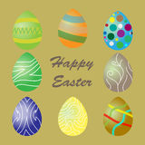 Easter eggs vector icons. Easter eggs  vector. Easter eggs for Easter holidays design Royalty Free Stock Images