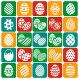 Easter eggs. Vector icons set. Stock Image