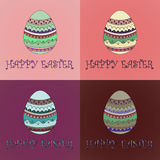 Easter eggs. Vector illustration. Royalty Free Stock Photo