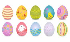 Easter eggs. Vector illustration of Easter eggs on a white background Stock Images