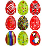 Easter eggs painted Stock Photos
