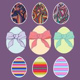 Easter eggs. Vector set for design Stock Images