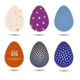 Easter eggs  vector set Stock Photos