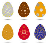 Easter eggs  vector set Royalty Free Stock Images