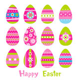 Easter eggs in vector Royalty Free Stock Images