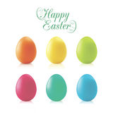 Easter eggs. Vector set of multicolored Easter eggs Royalty Free Stock Images