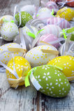 Easter eggs in vertical Royalty Free Stock Photography