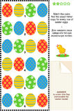 Easter eggs visual puzzle Royalty Free Stock Images