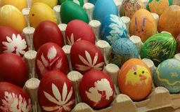 Easter Eggs waster Stock Image